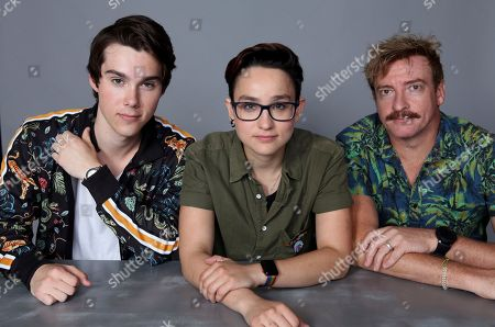 Jeremy Shada, Bex Taylor-Klaus and Rhys Darby