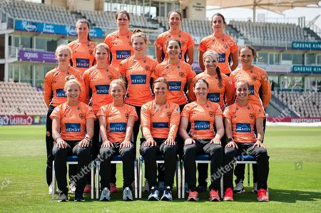 2018 Southern Vipers Squad: (Back Row Left to Right) Tammy Beaumont, Paige Scholfield, Sara McGlashan, Fi Morris. (Middle Row Left to Right) Charlie Dean, Carla Rudd, Lauren Bell, Maia Bouchier, Mignon Du Preez, Amelia Kerr, (Front Row Left to Right) Katie George, Danni Wyatt, Suzie Bates, Arran Brindle,  Tash Farrant.  during the media day for the Southern Vipers at the Ageas Bowl, Southampton. Picture by Dave Vokes