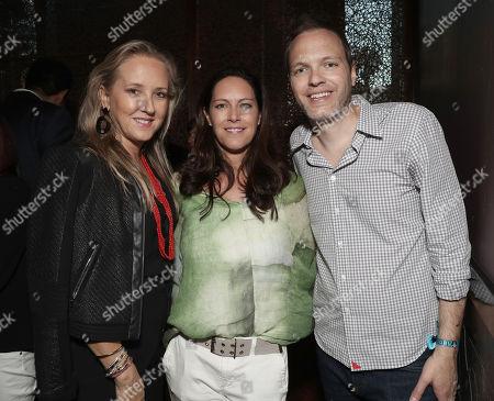 Amazon Studios Head Jennifer Salke, Isa Hackett and Amazon Studios Head of Drama Marc Resteghini