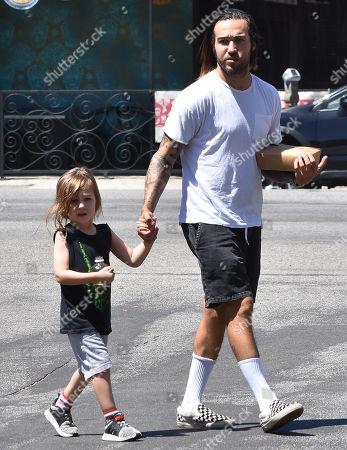 Pete Wentz and his son, Saint Wentz