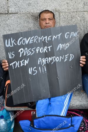 Chagos Islanders protest, Trafalgar Square, London