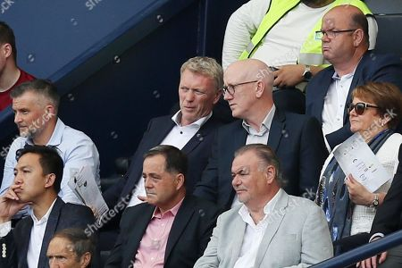 David Moyes in the stands