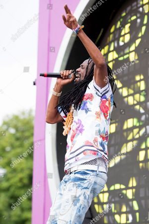 General Levy performs on stage