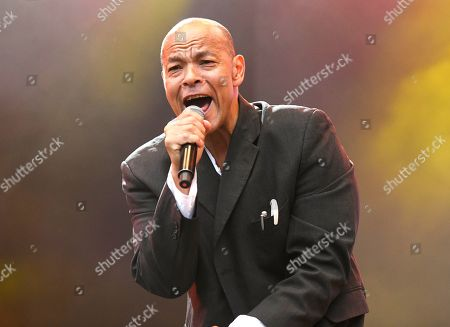 Roland Gift performing live at 80s extravaganza Rewind Festival