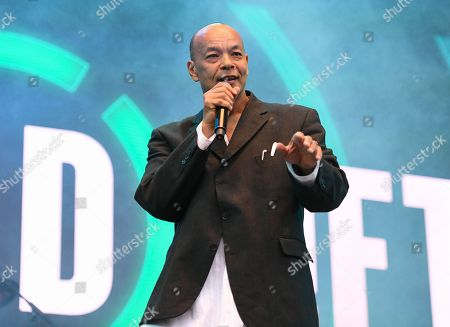 Stock Image of Roland Gift performing live at 80s extravaganza Rewind Festival