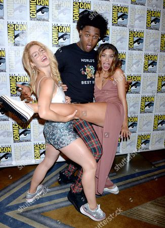 Stock Picture of Emily Bett Rickards, Echo Kellum, Juliana Harkavy