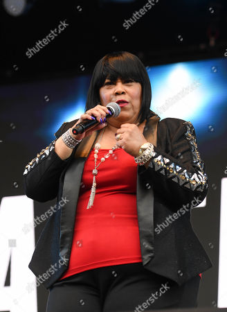 Stock Picture of Martha Wash performing live at 80s extravaganza Rewind Festival, Scone Palace, near Perth, Scotland