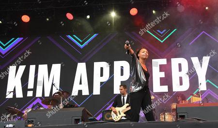 Kim Appleby performing live at 80s extravaganza Rewind Festival, Scone Palace, near Perth, Scotland