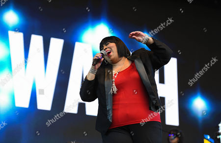Stock Photo of Martha Wash performing live at 80s extravaganza Rewind Festival, Scone Palace, near Perth, Scotland