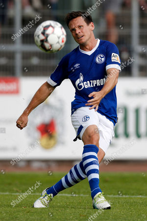 Essen, Germany, pre season friendly,  ETB Schwarz-Weiss Essen  vs. FC Schalke 04  0-121.7. 2018 stadiumUhlenkrug in Essen Sascha RIETHER (S04)