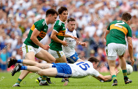 Monaghan vs Kerry. Kerry's Jack Barry, Paul Murphy and Ronan Shanahan with Conor McManus of Monaghan