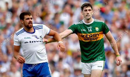 Monaghan vs Kerry. Monaghan's Drew Wylie and Paul Geaney of Kerry