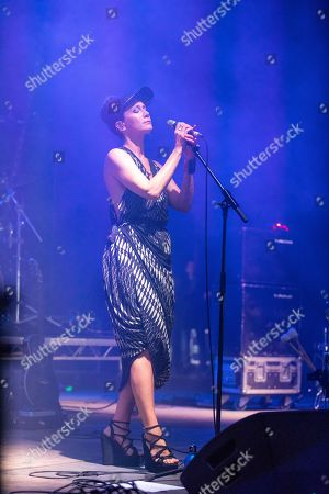 Stock Picture of Lou Rhodes of Lamb performing on the Lovell Stage