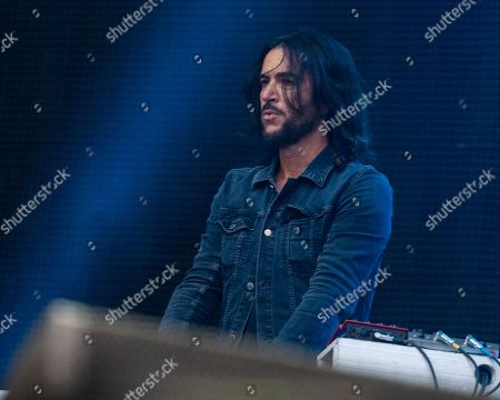 The American rock band Foo Fighters with keyboard player Rami Jaffee performs at Fenway Park, in Boston