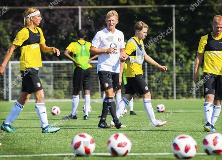 Stock Picture of Dirk Kuyt (C) leads a training session of Feyenoord Rotterdam's Under-19 in Rotterdam, The Netherlands, 23 July 2018.