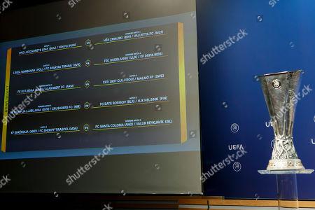 Champions League Third Qualifying Round Draw Nyon Stock Photos