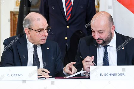 Editorial photo of Benelux Treaty on Police Cooperation, Brussels, Belgium - 23 Jul 2018
