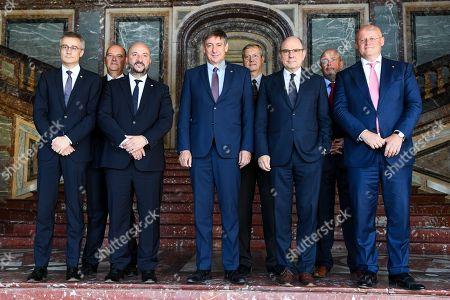 Stock Photo of Jan Jambon, Koen Geens, Etienne Schneider, Felix Braz, Ferd Grapperhaus