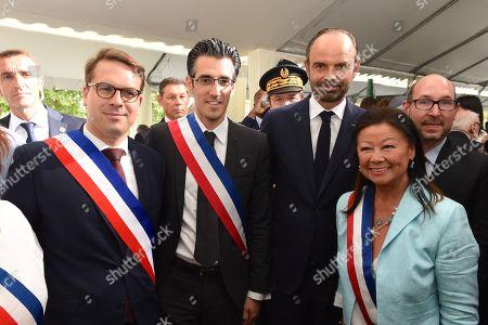 Stock Image of Geoffroy Boulard, Jeremy Redler, Edouard Philippe, Jeanne d'Hauteserre