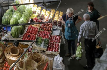 Editorial picture of Danilovsly market in Moscow, Russian Federation - 23 Jul 2018