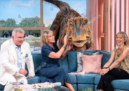 Eamonn Holmes, Ruth Langsford with Michaela Strachan and a baby T-rex