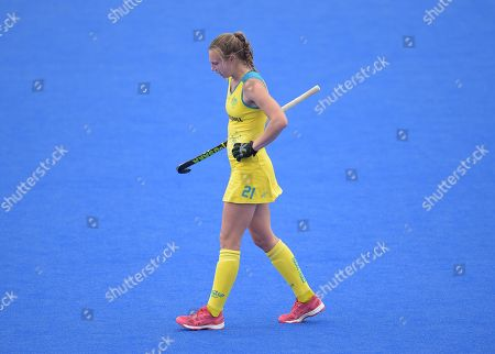 Renee Taylor of Australia looks dejected at full-time