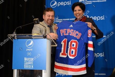 Jim Dolan, Madsion Square Garden Company Executive Chairman and CEO and Indra Nooyi, PepsiCo Chairman and CEO