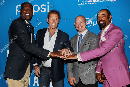 Stock Picture of Larry Johnson, Ron Duguay, Adam Graves, Walt Frazier