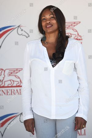 French sports minister Laura Flessel poses at the Federal Equestrian Park of Lamotte Beuvron