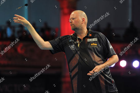 Raymond van Barneveld during BetVictor World Match Play Darts at the Winter Gardens on 24th July 2018