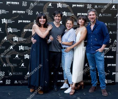 (L-R) Director Eduardo Chapero-Jackson, Marta Fernandez, Thais Blume, actress Veronica Echegui and Alberto Ammann