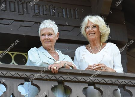 Judi Dench and Catherine Duchess of Cambridge visiting the Swiss Cottage at Osborne House on the Isle Wight