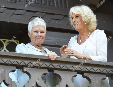 Judi Dench and Catherine Duchess of Cambridge visiting the Swiss Cottage at Osborne House on the Isle Wight.