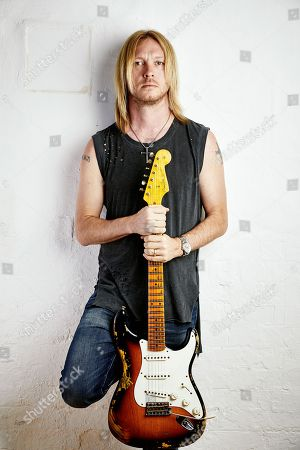 London United Kingdom - June 5: Portrait Of American Blues Rock Guitarist Kenny Wayne Shepherd Photographed At John Henry's Studios In London On June 5