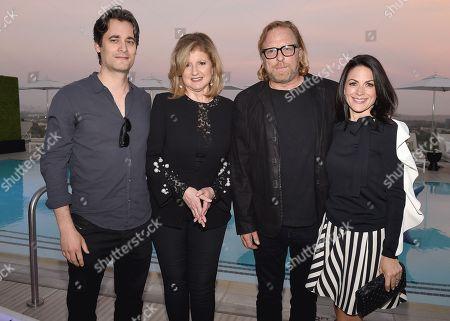 Stephan Paternot, Arianna Huffington, Matthew Carnahan, Courteney Monroe