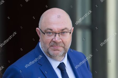 Stephane Travert leaves the Elysee Palace after the weekly minister council