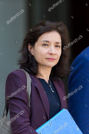 Delphine Geny-Stephann leaves the Elysee Palace after the weekly minister council