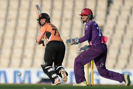 Arran Brindle of Southern Vipers batting during the Women's Cricket Super League match between Southern Vipers and Loughborough Lightning at the Ageas Bowl, Southampton. Picture by Dave Vokes
