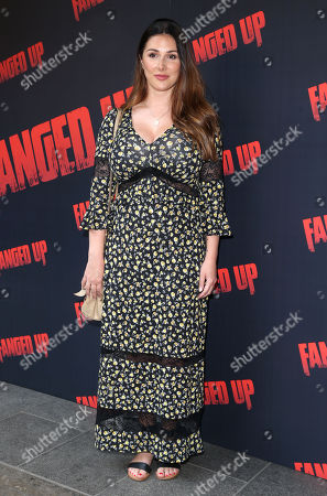 Lucy Pinder attends the 'Fanged Up' premiere at Leicester Square, London.