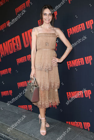 Anna Danshina attends the 'Fanged Up' premiere at Leicester Square, London.