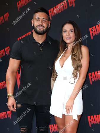 Dean Overson and Ellie Jones attends the 'Fanged Up' premiere at Leicester Square, London.