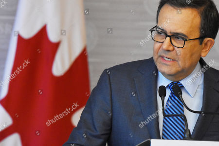 Secretary of Economy Ildefonso Guajardo Villarreal during a press conference to speak about NAFTA at the Secretariat of Foreign Affairs