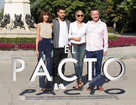Stock Image of Mireia Oriol, David Victori and Belen Rueda