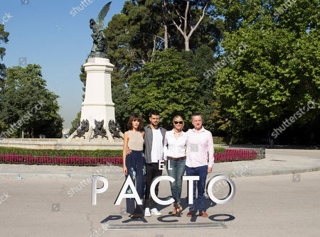 Stock Picture of Mireia Oriol, David Victori and Belen Rueda