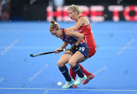 Sophie Bray of England and Alyssa Manley of USA