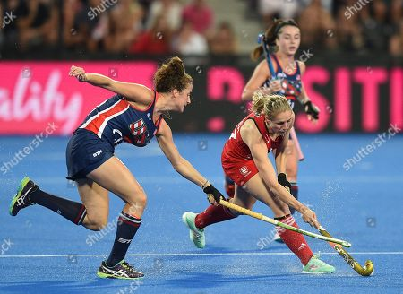 Stock Picture of Tara Vittese of USA and Jo Hunter of England