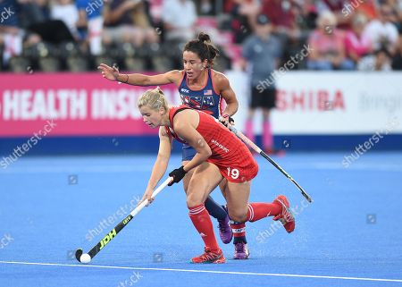 Sophie Bray of England and Melissa Gonzalez of USA