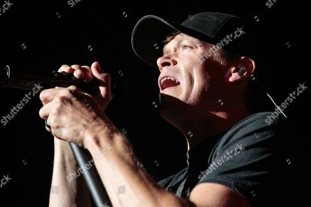 Brad Arnold performs in concert with 3 Doors Down at HEB Center on July 18, 2018 in Cedar Park, Texas.