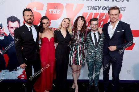 Justin Theroux, Mila Kunis, Kate McKinnon, Susanna Fogel, Writer/Director, David Iserson, Writer, Sam Heughan