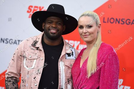 "P. K. Subban, Lindsey Vonn. P. K. Subban and Lindsey Vonn arrive at the world premiere of ""The Spy Who Dumped Me"" on in Los Angeles"